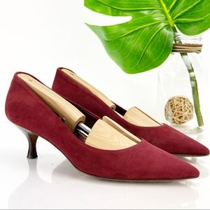 Donald J Pliner ROME Pump Pointed Red Suede Low
